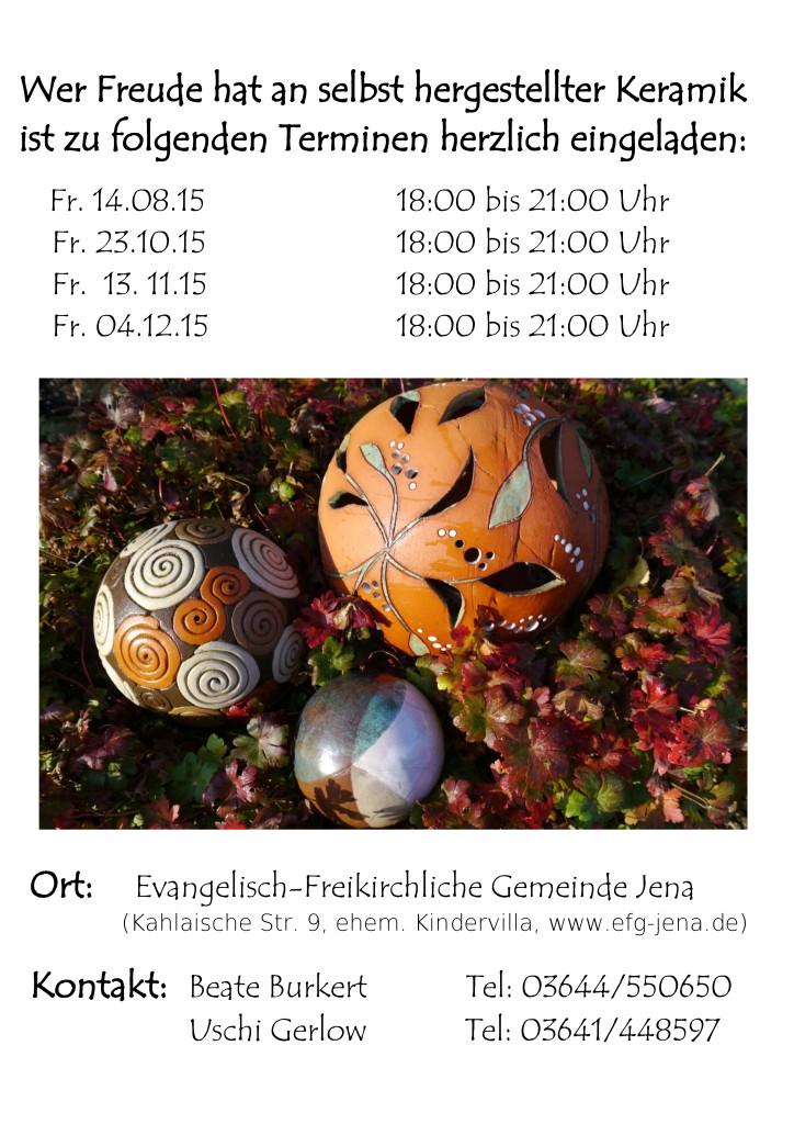 Keramiktermine Herbst 2015