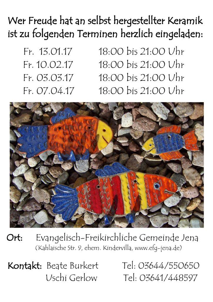 Keramik-Werkstatt: Termine Herbst/Winter 2016
