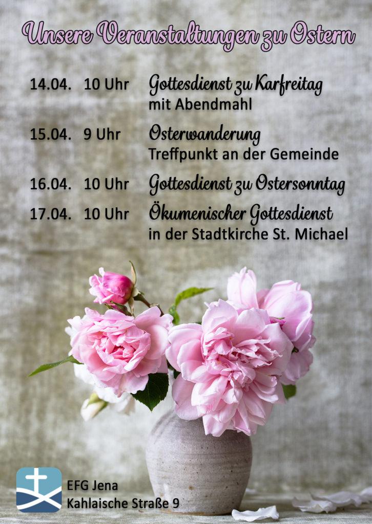 Veranstaltungen an Ostern 2017