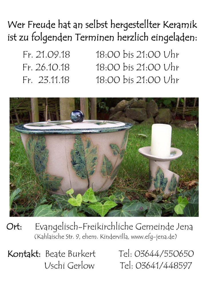 Keramik-Termine Herbst 2018