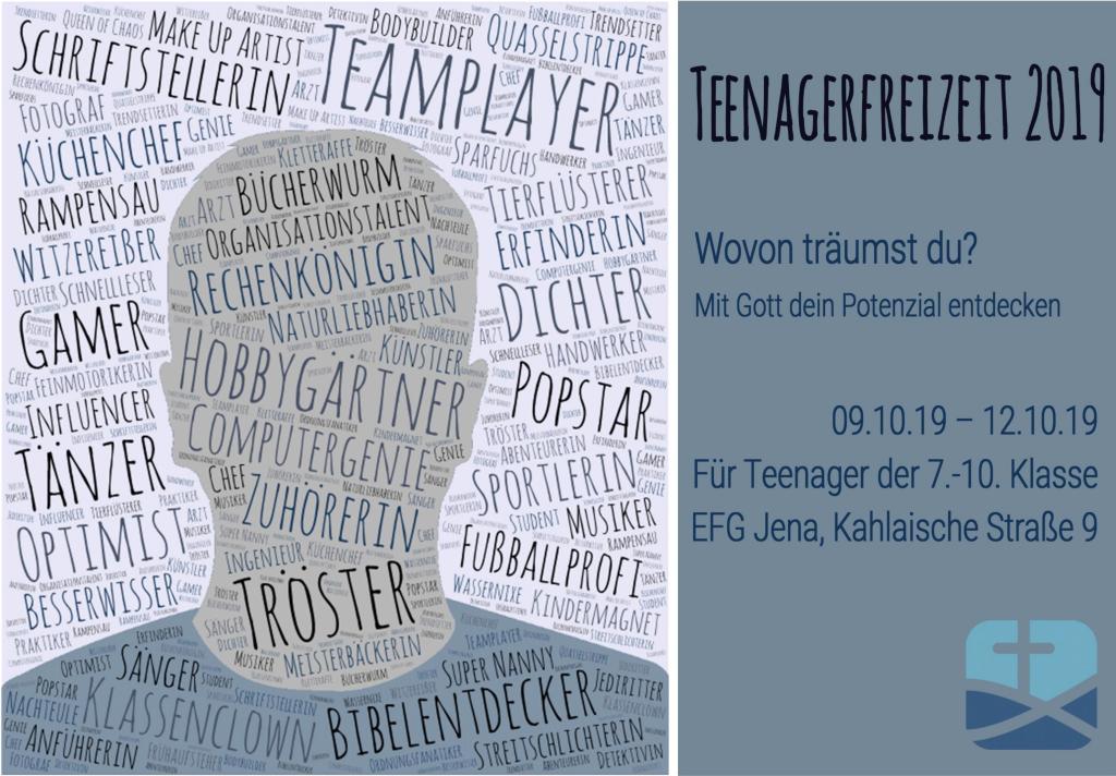 Einladung zur Teenagerfreizeit (9.-12.10.2019)