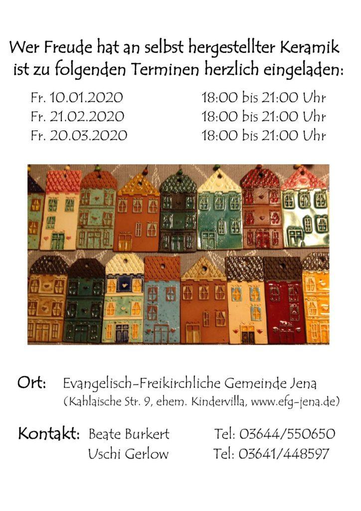 Keramik-Werkstatt Winter 2019/20