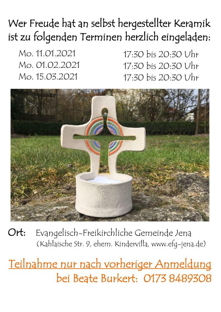 Keramik-Werkstatt: Wintertermine 2020/21